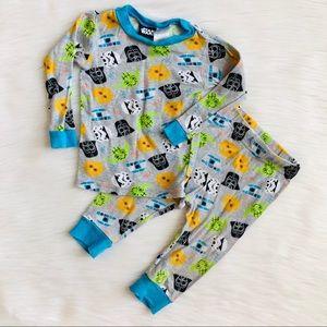 Star Wars grey pajama set - 12months